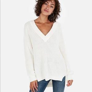Express shaker knit sweater